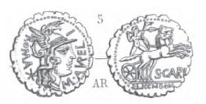 Denier Serratus Aurelia _ RRC 282/1